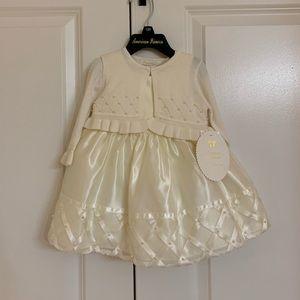 Stunning formal baby dress w/ matching cardigan